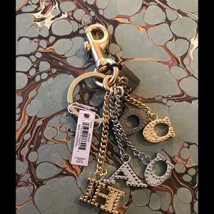 Coach Bag Charm Keychain New w Tag $98- Retail